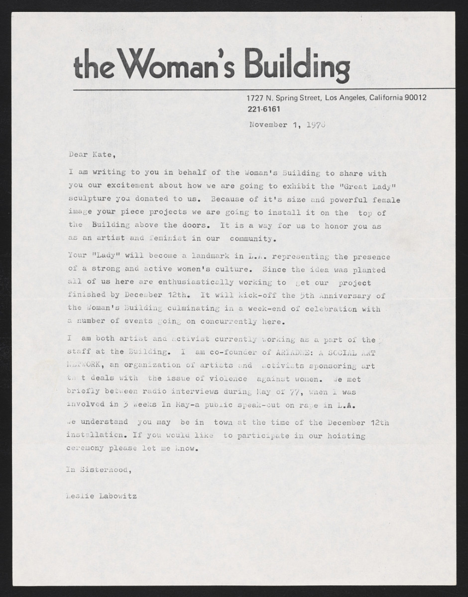 The Woman's Building — The Cheapest University, documents