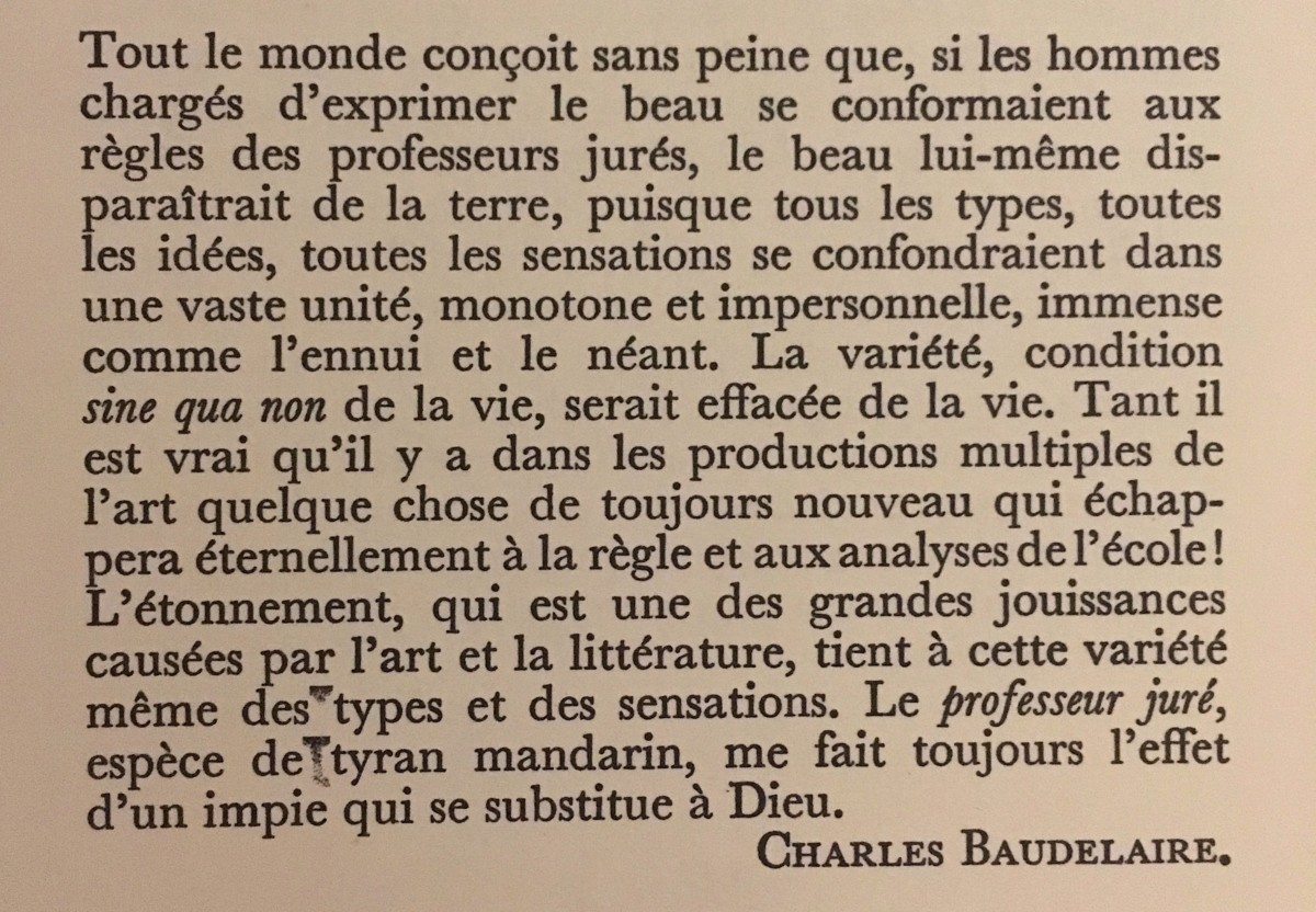 baudelaire — The Cheapest University