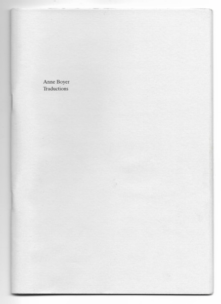 Anne Boyer, traductions — The Cheapest University
